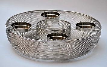 Amazonde Crafts Design Adventskranz Modern Schale Edelstahl
