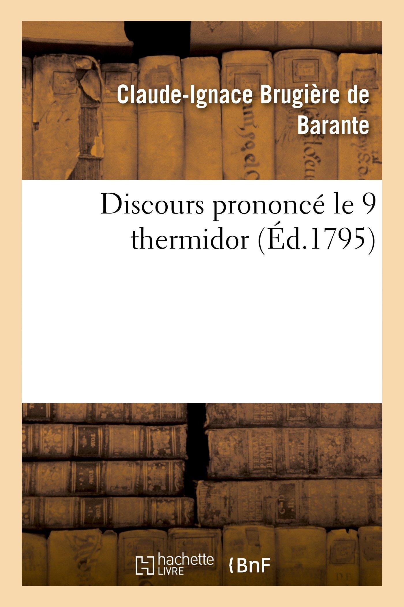 Download Discours Prononce Le 9 Thermidor (Histoire) (French Edition) pdf