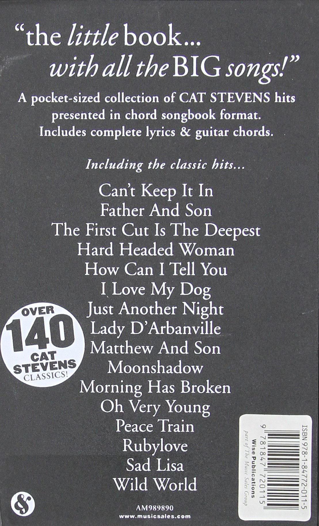 Amazon Cat Stevens The Little Black Songbook Lyricschord
