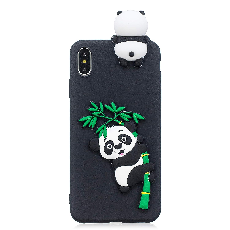 Coque iPhone XS Max Etui Antichoc Mince Housse Protection pour Fille Femme Gar/çon HopMore Panda Licorne Coque iPhone XS Max Silicone Souple Motif Dr/ôle 3D Licorne Noire