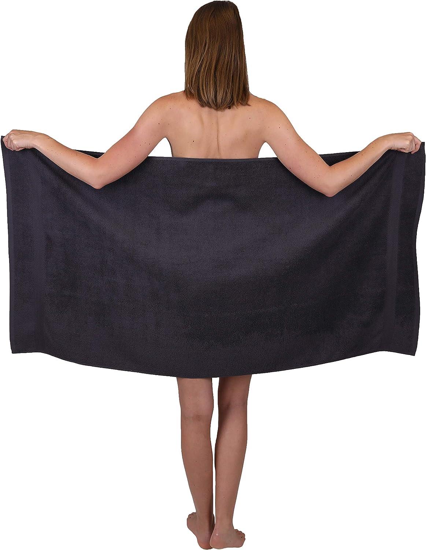 Betz Set di 6 Asciugamani Premium 2 Asciugamani da Doccia 70 x 140 cm 4 Asciugamani 50 x 100 cm 100/% Puro Cotone Color Beige