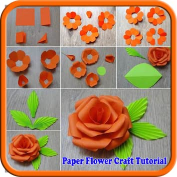 Amazon paper flower craft tutorial appstore for android image unavailable image not available for color paper flower craft tutorial mightylinksfo
