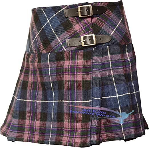 100/% Acrylic Kilt 26/'/' to 40/'/' Ladies Tartan Kilts Scottish