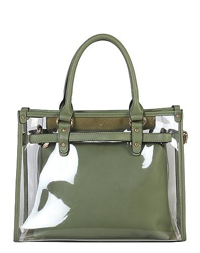 Amazon.com  Diophy Large Fashion Clear Tote Womens Handbag  Shoes 593d8328c35a4
