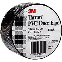 3M Tartan PVC Duct Tape Black 50mm x 30m