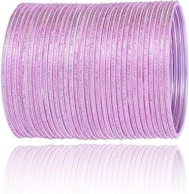 Pink Bangle Glitter Stone