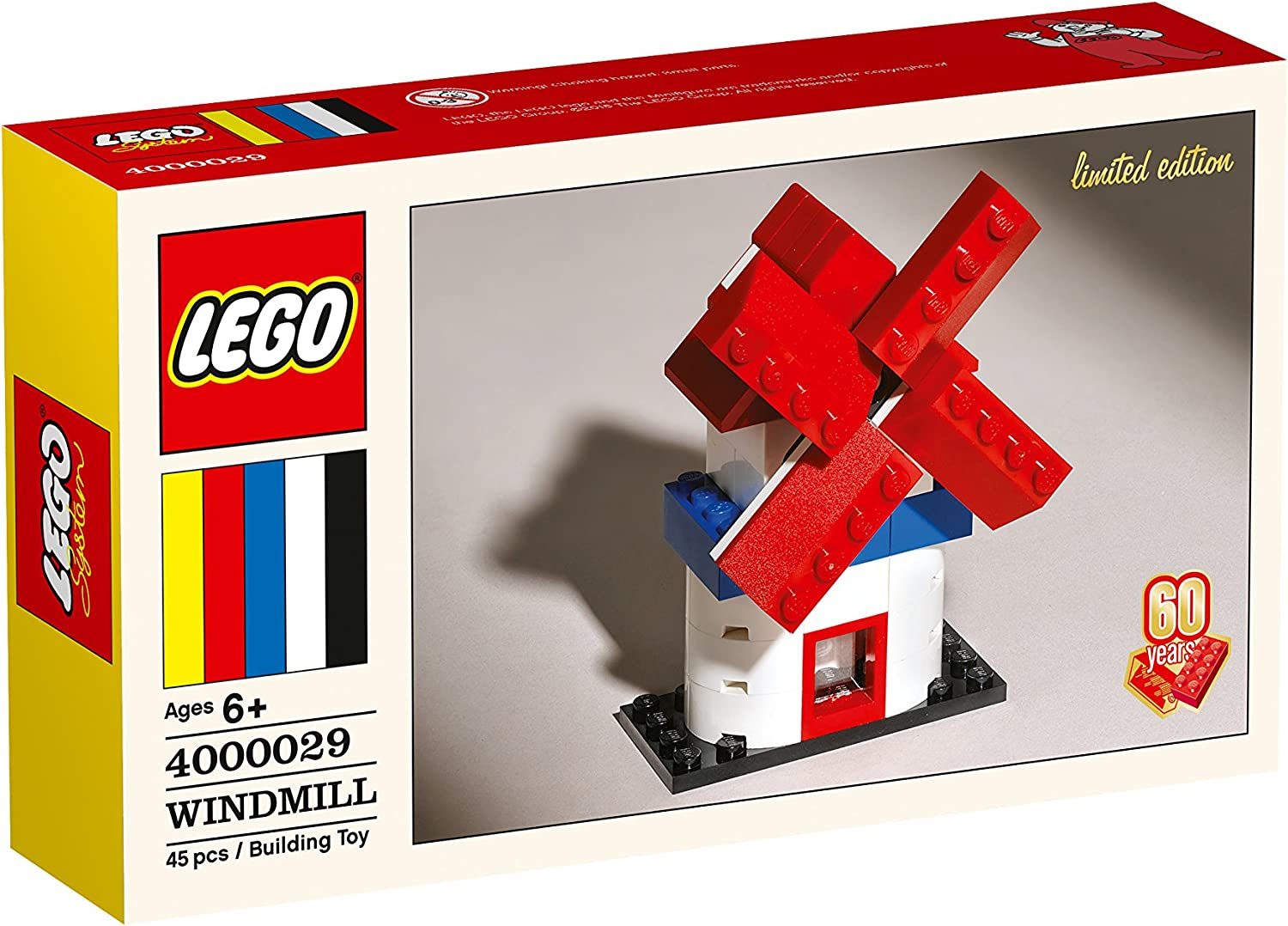LEGO Classic 60th Anniversary Limited Edition Windmill 4000029