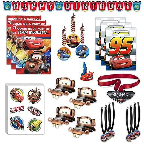 Amazon Com Disney Cars Birthday Party Favors Bundle 8 Guest