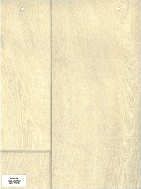 1708 Wood Effect Vintage Oak Light White Anti Slip Vinyl Flooring