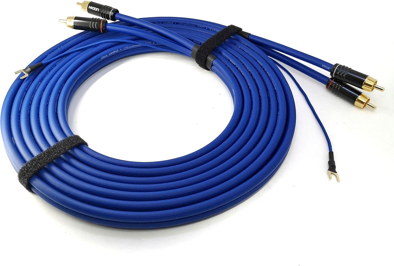 0,85m SC81-K3-0075 NF- C/âble phono 0,75m Sommer Cable 2 x 0,35mm/² c/âble audio blind/é avec c/âble de masse plus long 1 x 0,35mm/² contacts plaqu/és or