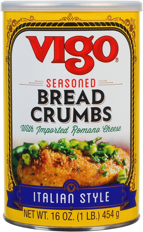 Vigo Italian Style Bread Seasoned Crumbs, 16 Ounce (Pack of 12)