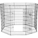 Paws & Pals Dog Exercise Pen Pet Playpens for Dogs - Puppy Playpen Outdoor Back or Front Yard Fence Cage Fencing Doggie…