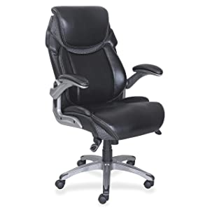 Lorell 47921 Wellness by Design Chair, 46.8&quot x 30&quot x 27.8&quot, Black