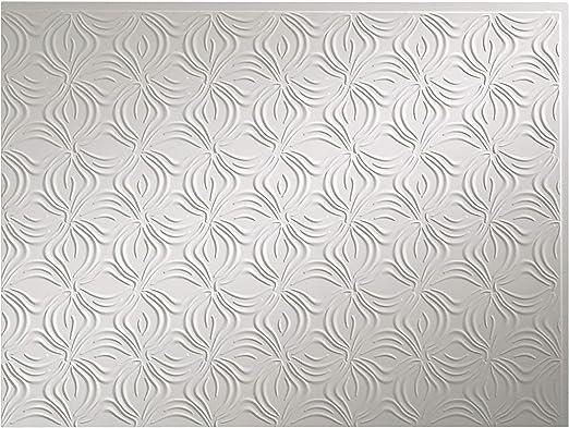 "Durable Matte White Backsplash Panel for Kitchen /& Bathrooms 18/""x24/""by"