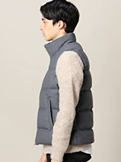 Saxony Wool Down Vest 1225-133-7633: Grey