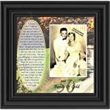 Bands of Gold, Personalized 50th Wedding Anniversary Gift Picture Frame, 10x10 6779B