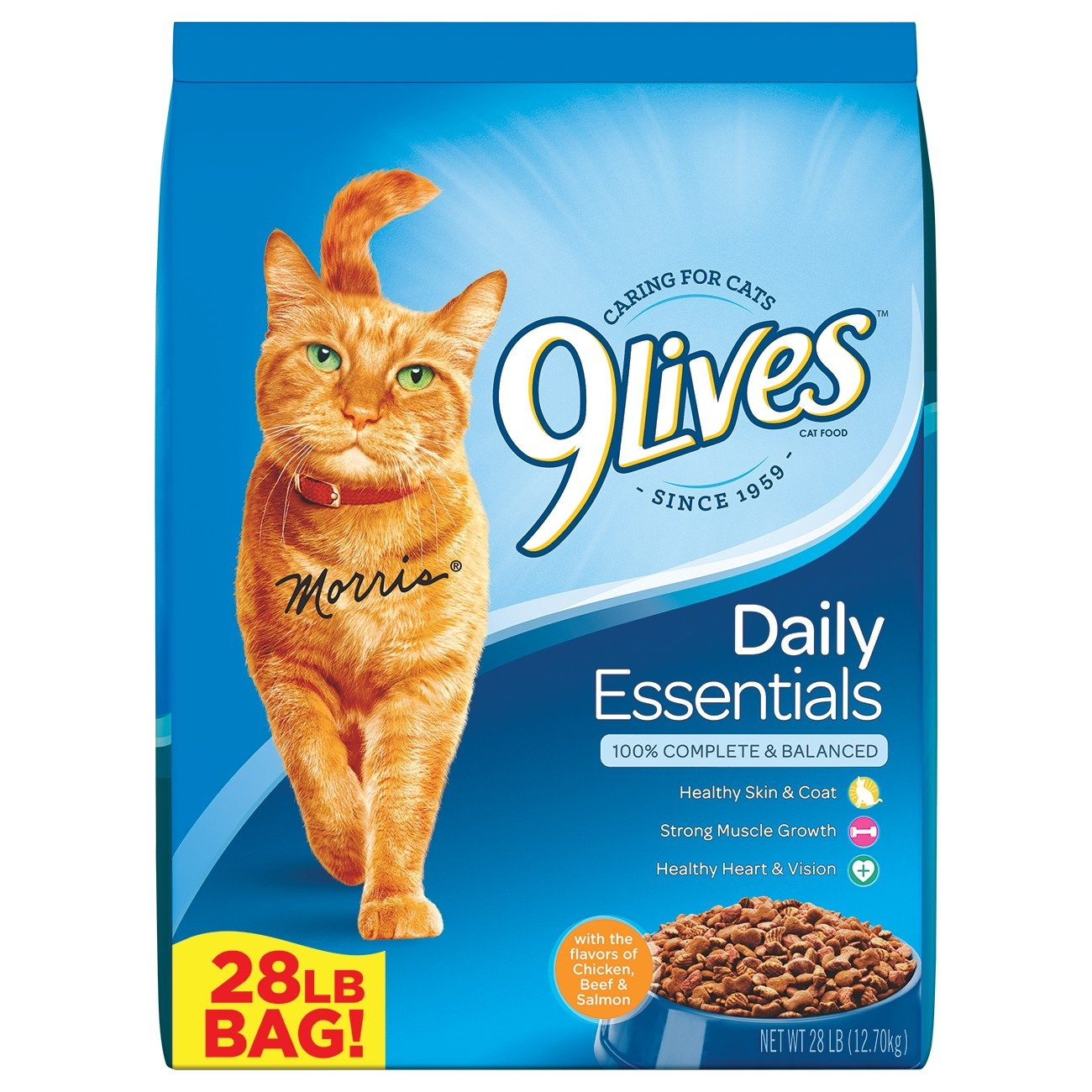 Large 9Lives 28 lb Daily Essentials Dry Cat Food, Large