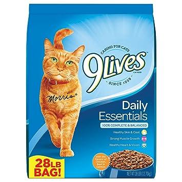 Amazon.com: 9lives alimento seco para gatos: Mascotas