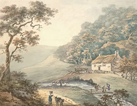 River Landscape Late 19th Century Watercolour Art