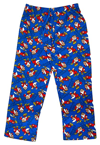Disney - Pantalón de Pijama - para Hombre Azul Grumpy Small
