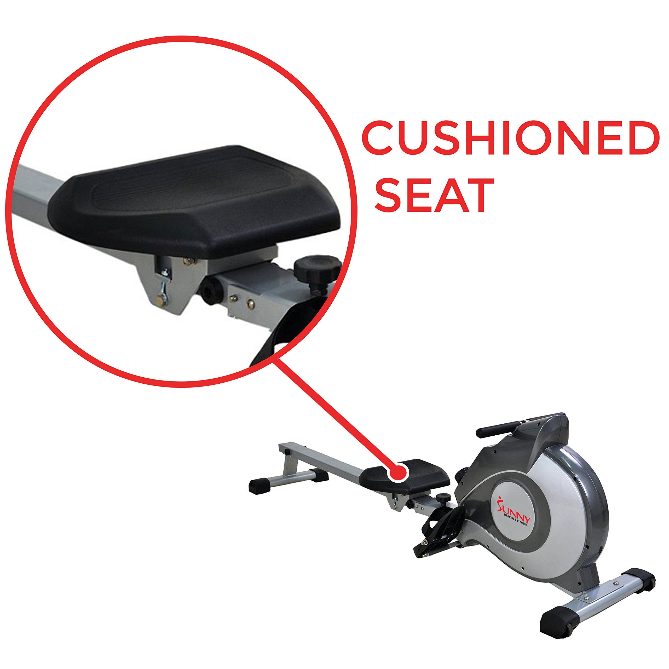 Sunny Health & Fitness Magnetic Rowing Machine with LCD Monitor by SF-RW5515 by Sunny Health & Fitness (Image #5)