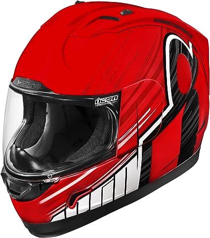 Amazon.es: Icon Alliance Overlord - Casco de moto, color rojo y negro