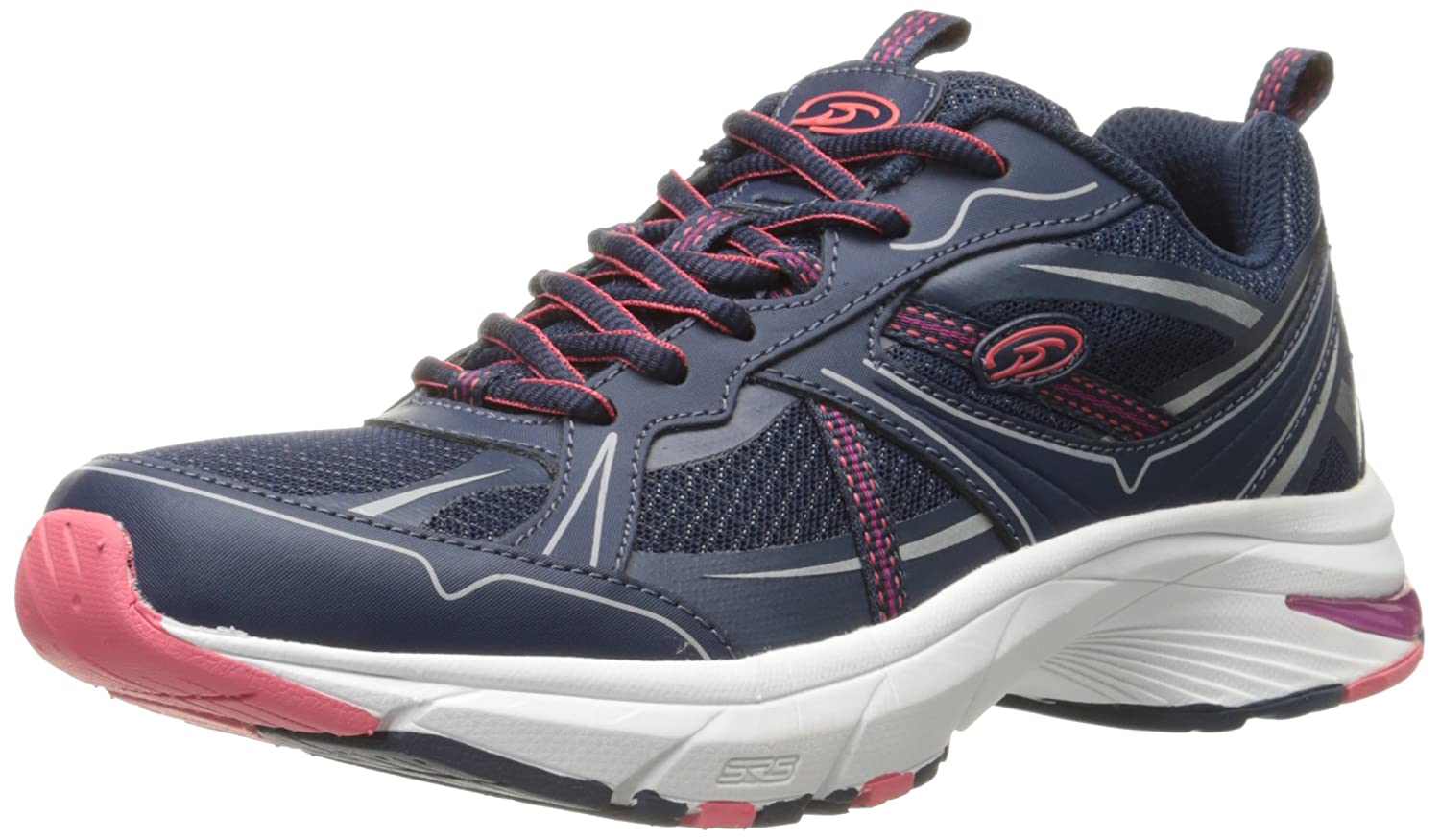 Dr. Scholl's Women's Persue Fashion Sneaker B0179FOEI2 9.5 B(M) US|Navy Leather