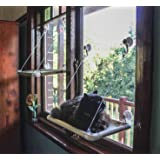Window Mounted Cat Perch. Strong Upgraded Version, holds up to 40lbs! 4 Big Suction Cups included. Perfect for your fun loving cat!