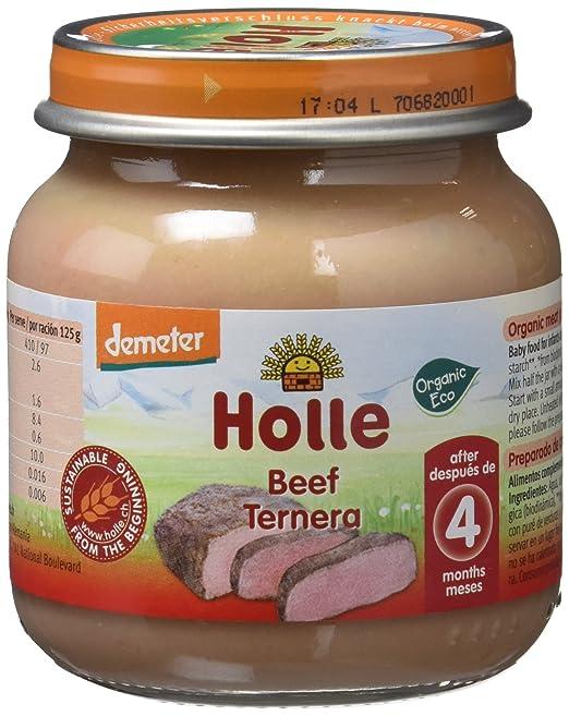 Holle Potito de Ternera 100% (+4 meses) - Paquete de 6 x