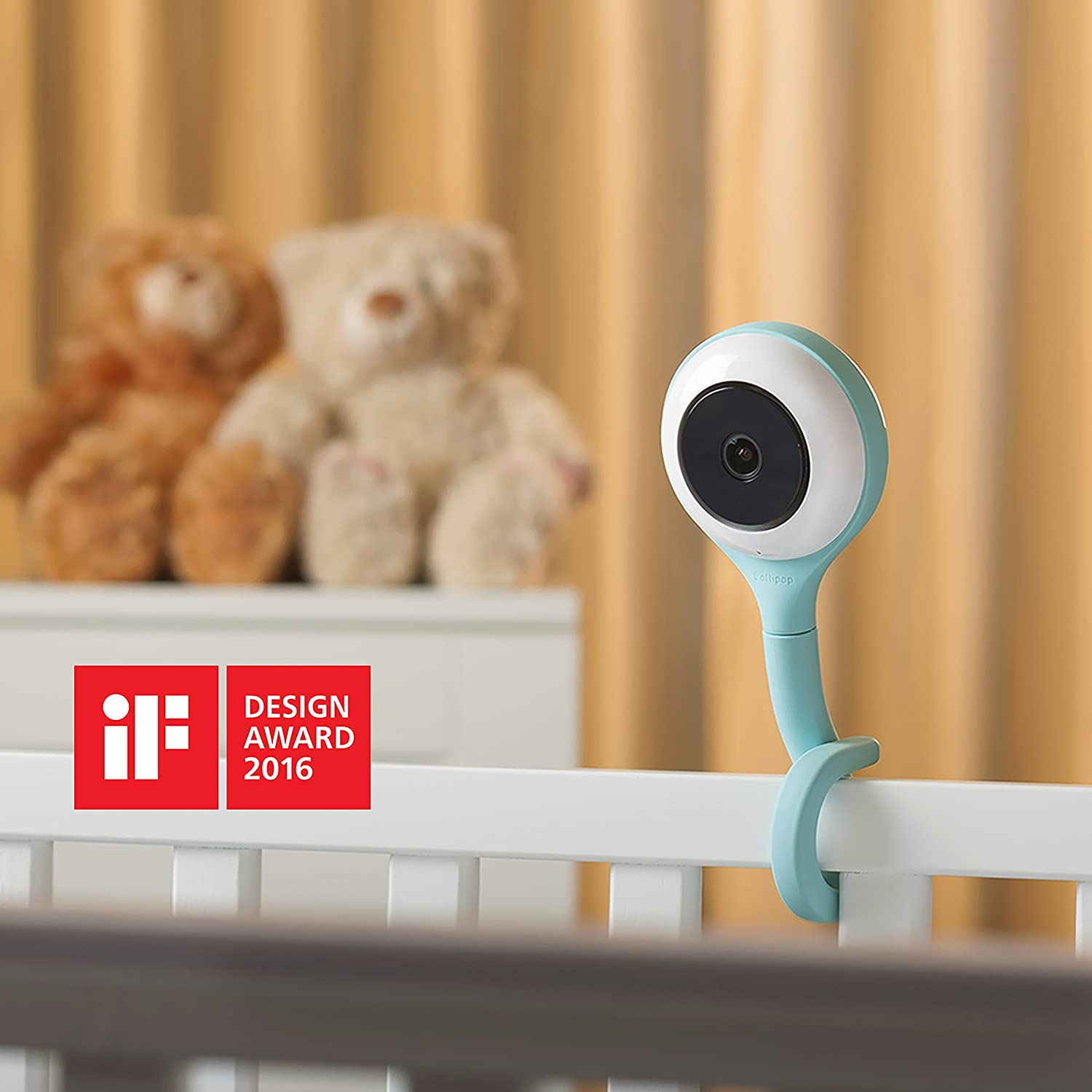 Lollipop Baby Camera with True Crying Detection Turquoise