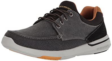 283f30ad Amazon.com | Skechers Men's Relaxed Fit-Elent-Mosen Boat Shoe ...