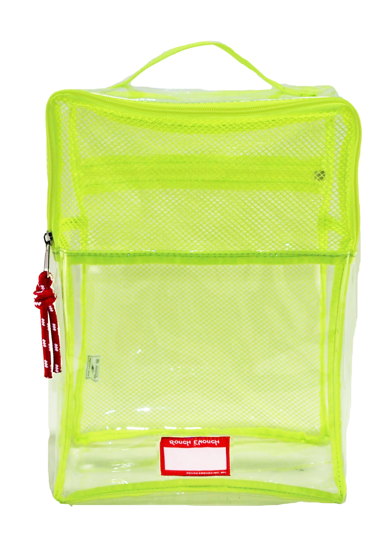 Rough Enough Clear Transparent Portable Big TPU Travel Shoes Bag Case Storage Packing Cube Luggage Closet Accessories Organizer with Zipper Mesh Compartment for Men Women Teens Sports Outdoors