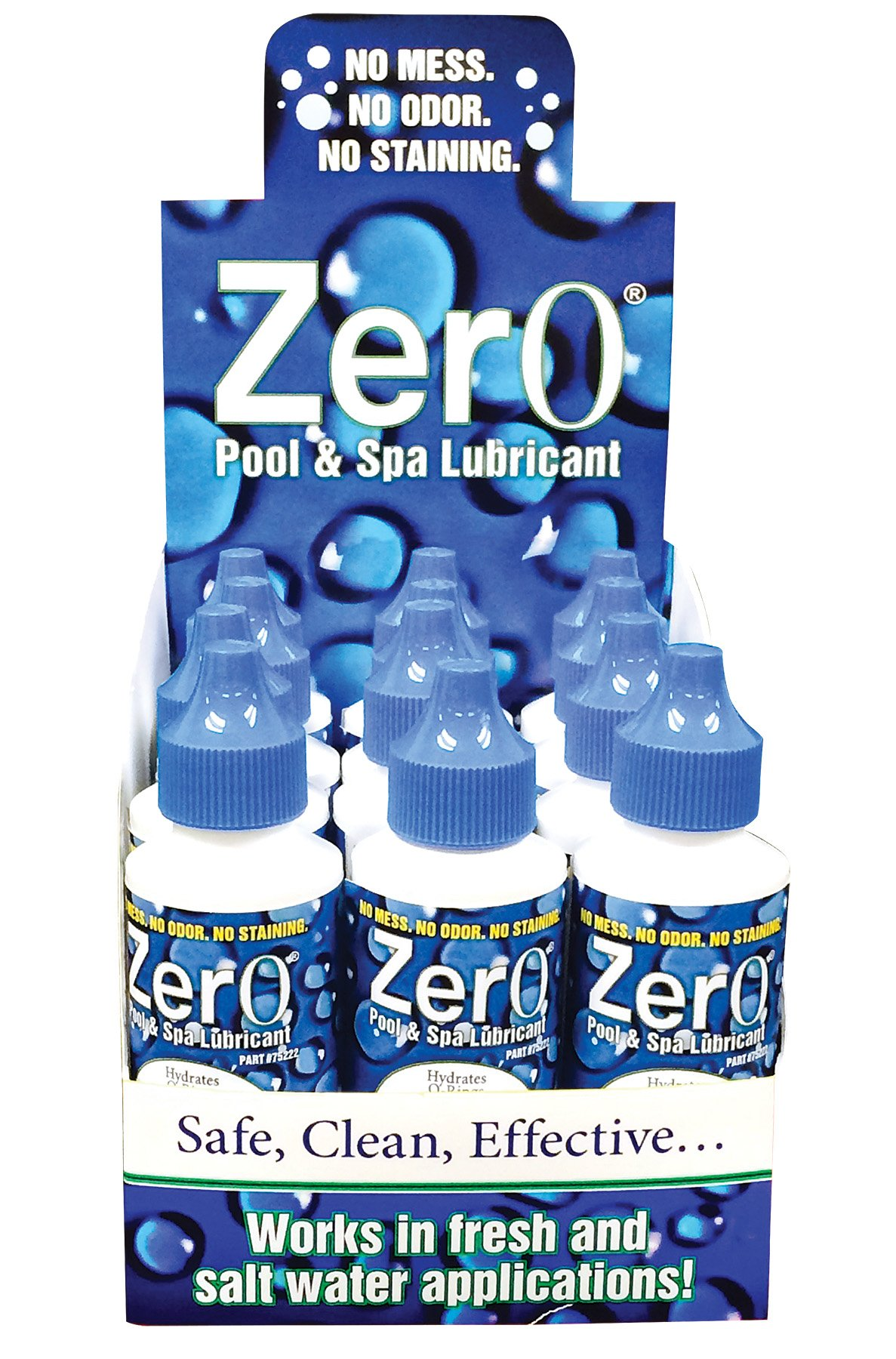 Lubegard 75221 Zer0 Pool and Spa Lubricant, 2 fl. oz, (Pack of 12) by Lubegard