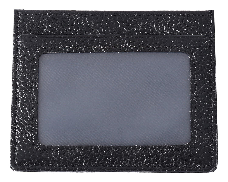 KEVIN YUN Men Genuine Leather Mini Slim Credit ID Card Holder