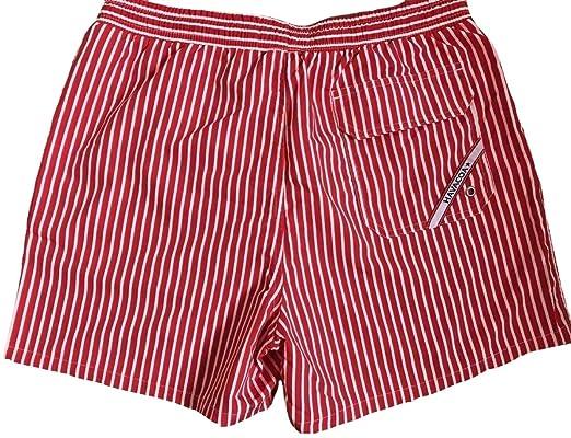 36e77a486d Havacoa Men's Swim Shorts Red Stripe (L=W32): Amazon.co.uk: Clothing