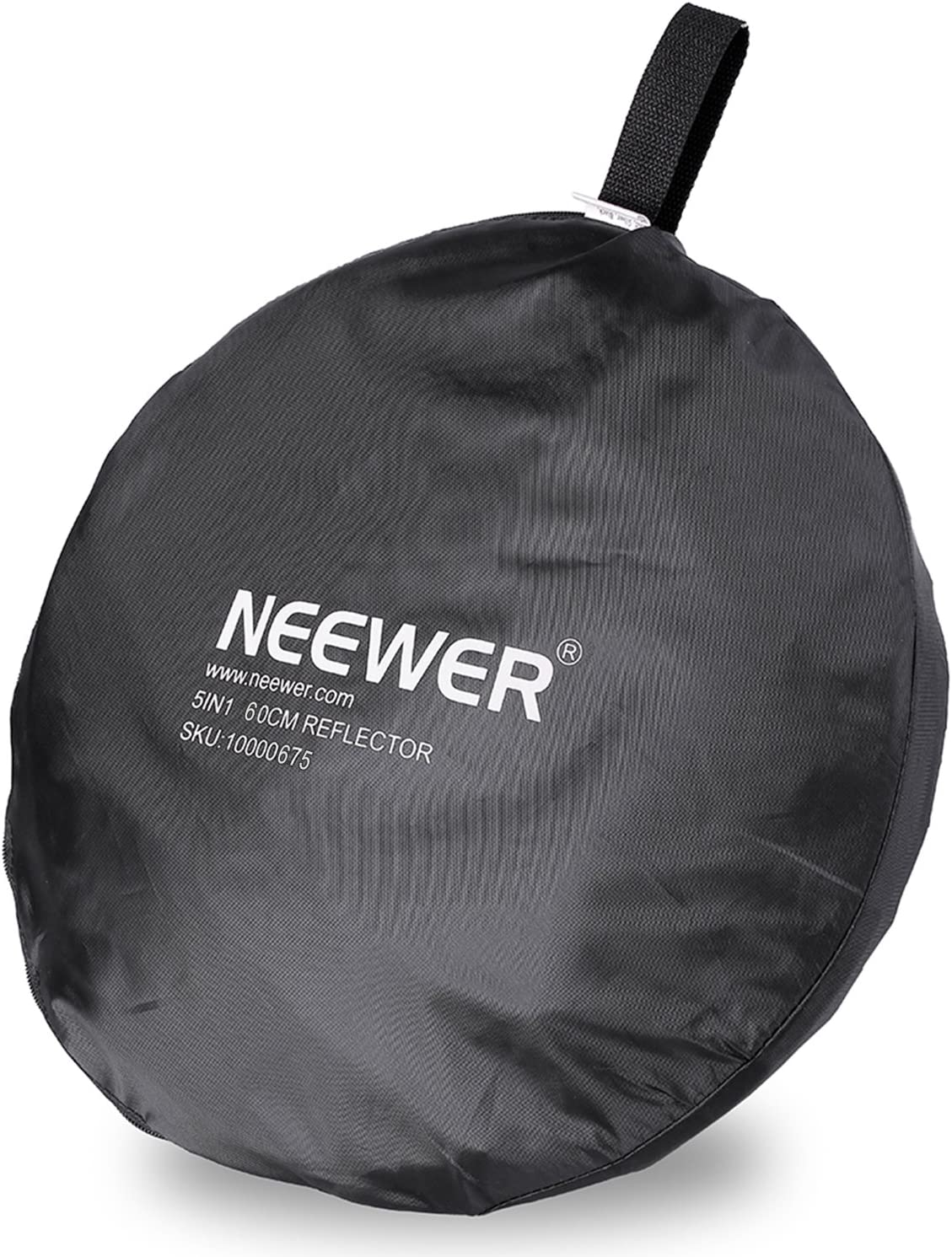 and Black Collapsible Round Multi Disc Light Reflector for Studio or any Photography Situation Silver White Gold Neewer Portable 5 in 1 60x60cm//22x22 Translucent