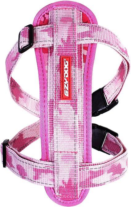EzyDog Chest Plate Harness Reflective Stitching Night Safety Free Car Restraint