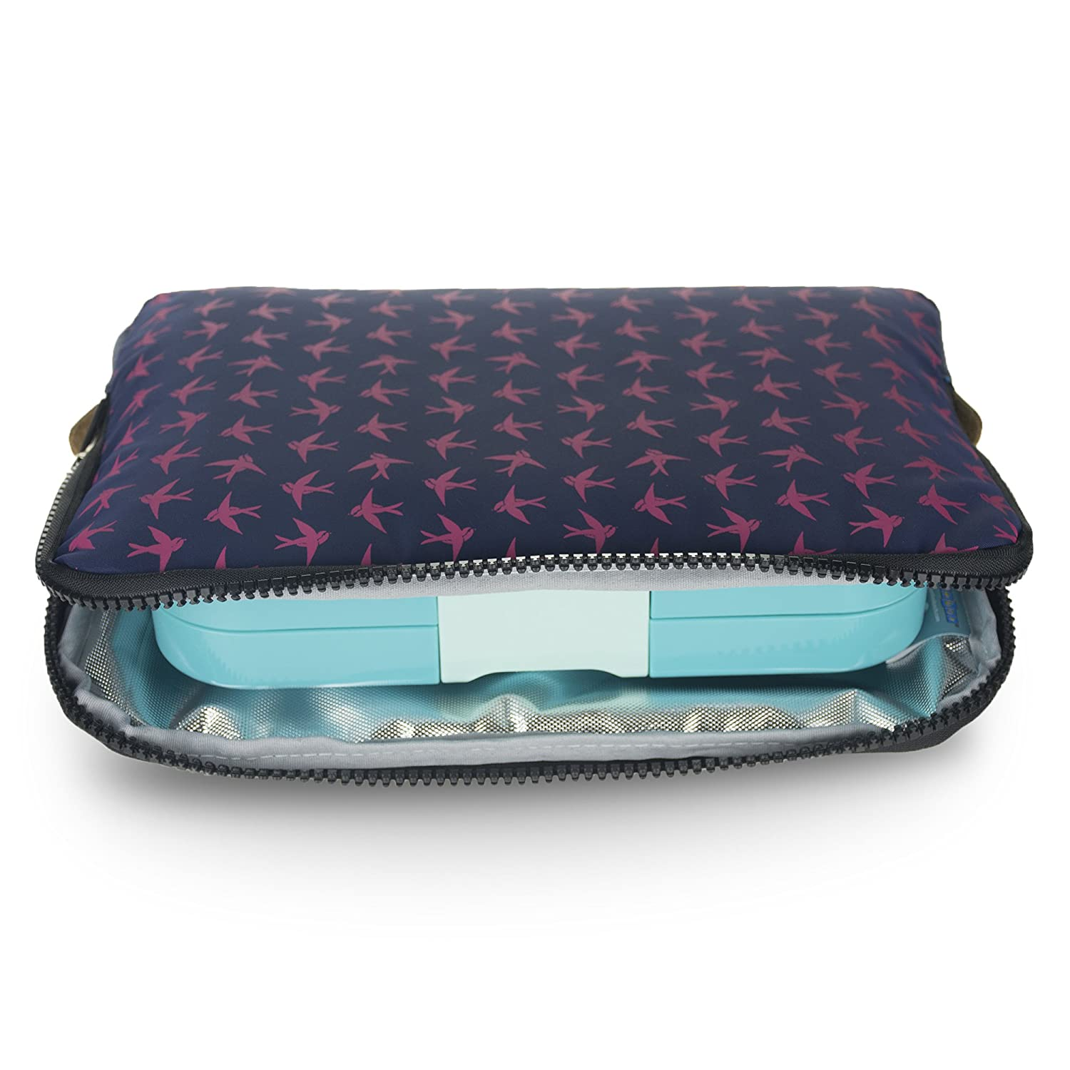 YUMBOX Poche - Insulated Sleeve Lunch Box (Navy with all over print) COMIN18JU057719