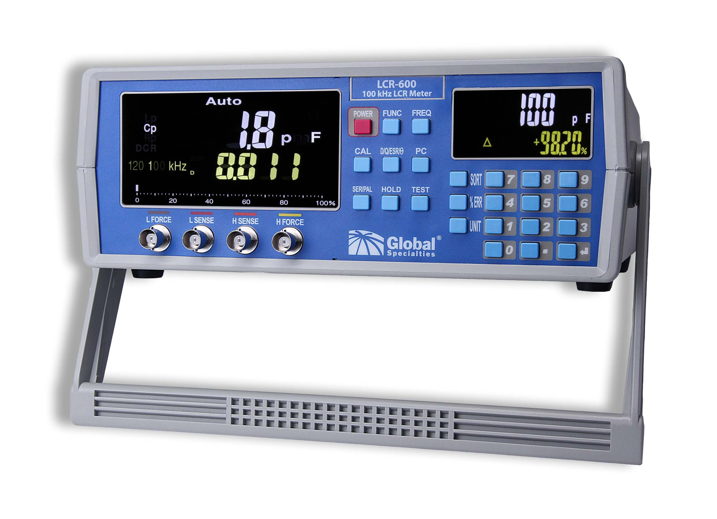 Global Specialties LCR-600 High Precision LCR Meter, 100 kHz