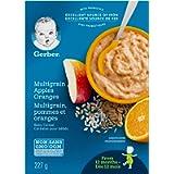 Gerber Baby Cereal, Apples & Oranges with Multigrain, 227 Grams (Pack of 6) - Packaging May Vary