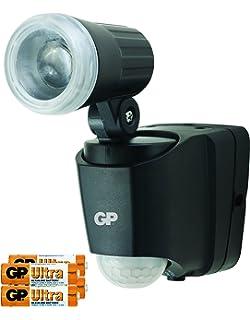 Lámpara con detector de movimiento (, lámpara exterior con detector de movimiento y sensor crepuscular