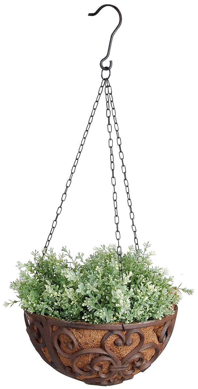 esschert bph maceta colgante para plantas color marrn amazones jardn