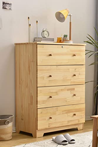 Better Home Products 100 Solid Pine Wood Super Jumbo Chest 4 or 5 Deep Drawers Storage Dresser