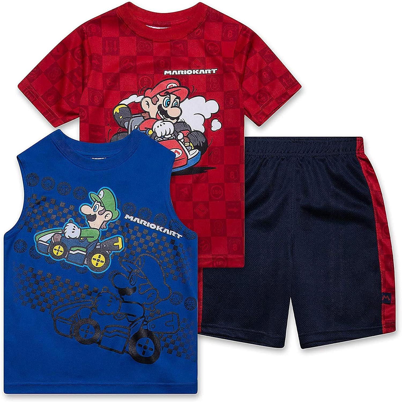 Super Mario Brothers Mario Kart Boys 3 Piece Clothing Set...