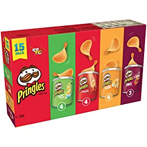 Pringles Potato Crisps Chips, Flavored Variety Pack, 20.6 Ounce