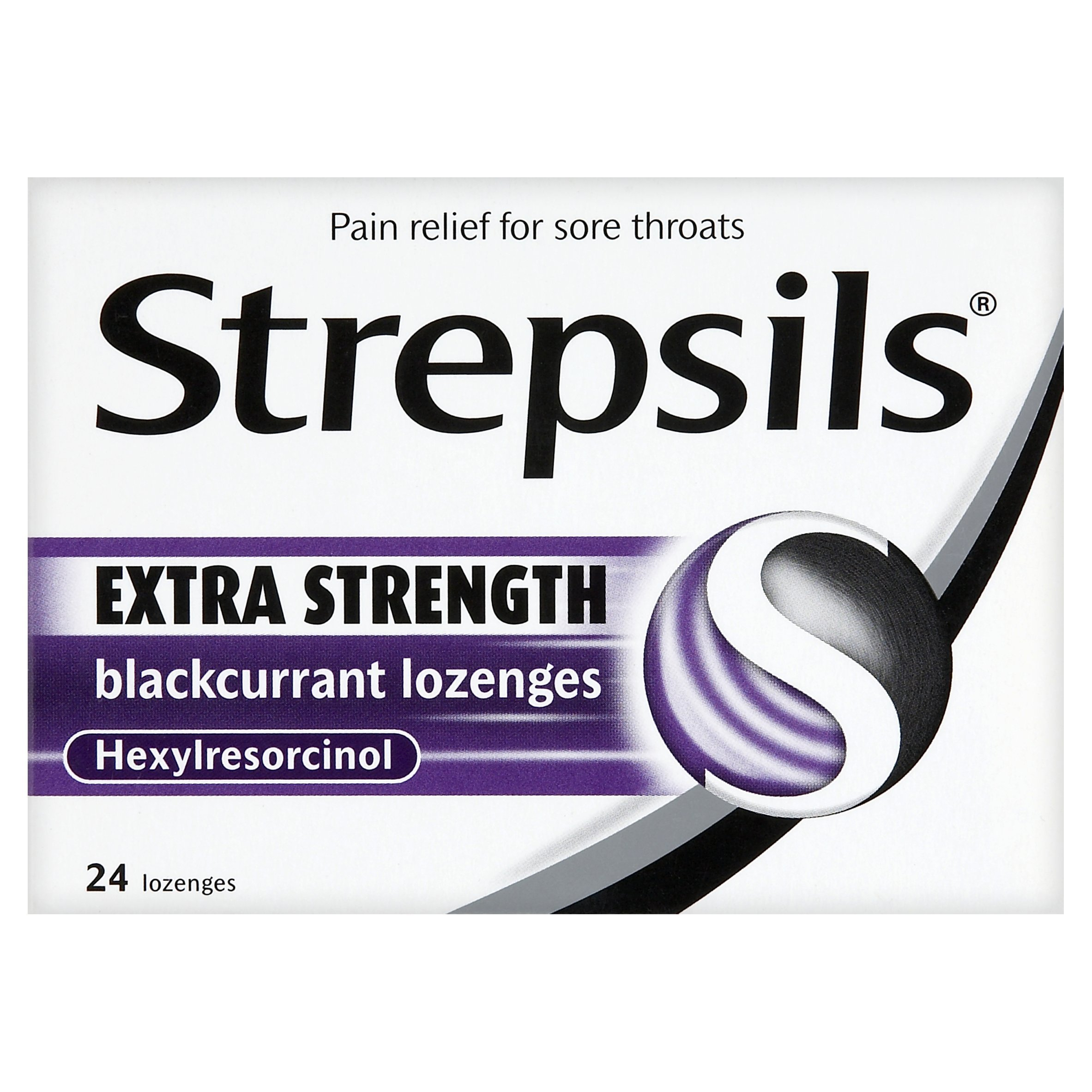 Strepsils Lozenges Extra Blackcurrant 24
