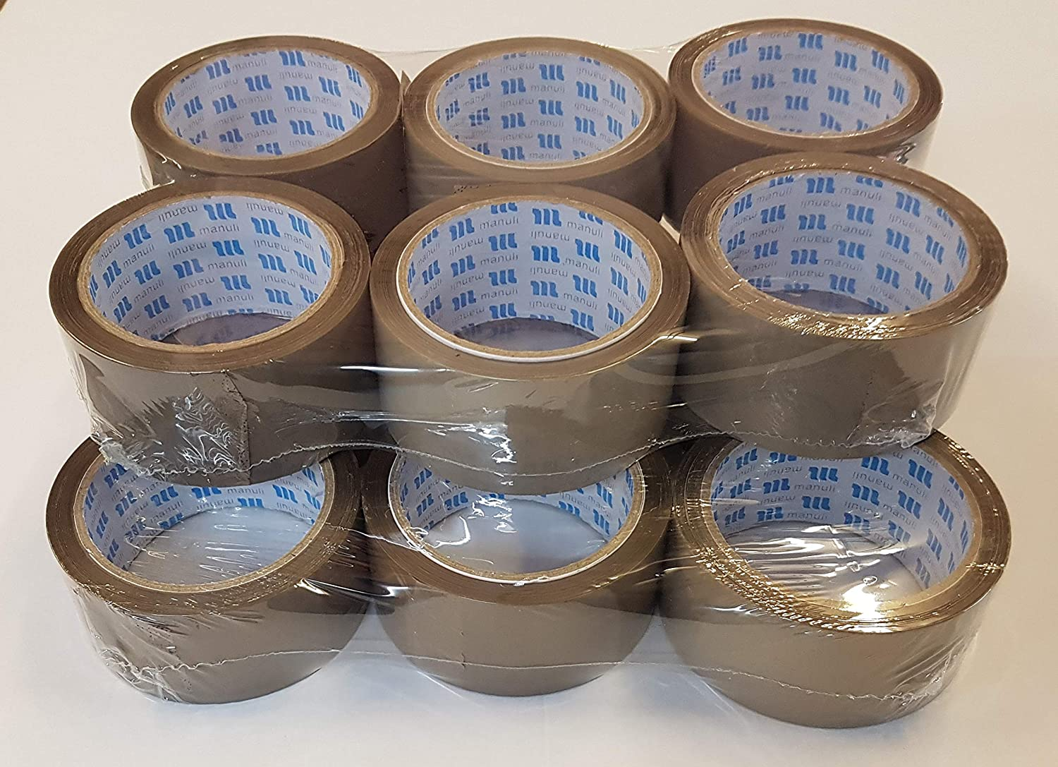 This 12 roll Pack of Standard Duty Brown Packing Tape Provides a Strong Secure and Sticky Seal for Your Boxes MANULI Brown Packaging Tape for Parcels and Boxes 12 Rolls 48MM x 66M