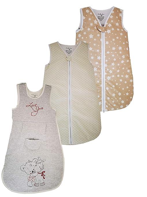 Madouck Saco de dormir bebés infantile con borderos de animales (osito y asnal):