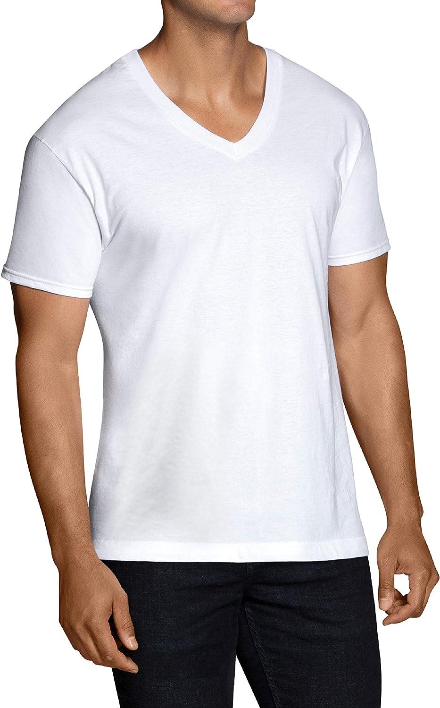Pack of 5 Fruit of the Loom Mens Extended Sizes V-Neck T-Shirt