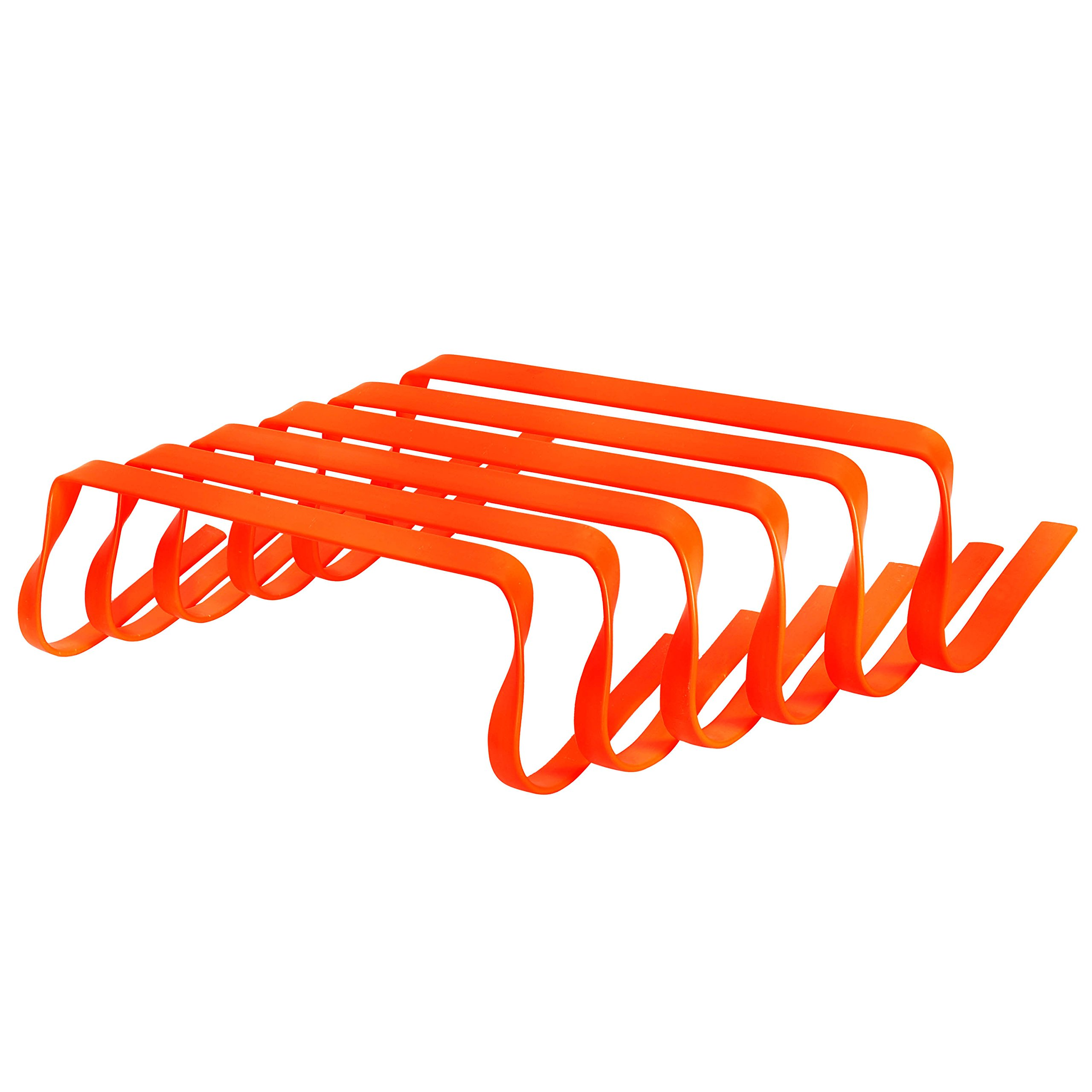 GSI All Purpose Agility Flat Bounce Back Hurdles for Speed Training, track and field coordination and Plyometric Hurdles - Pack of 6 (6 inch)